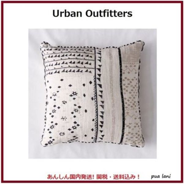 【Urban Outfitters】Niko プリント入り コットン スローピロー