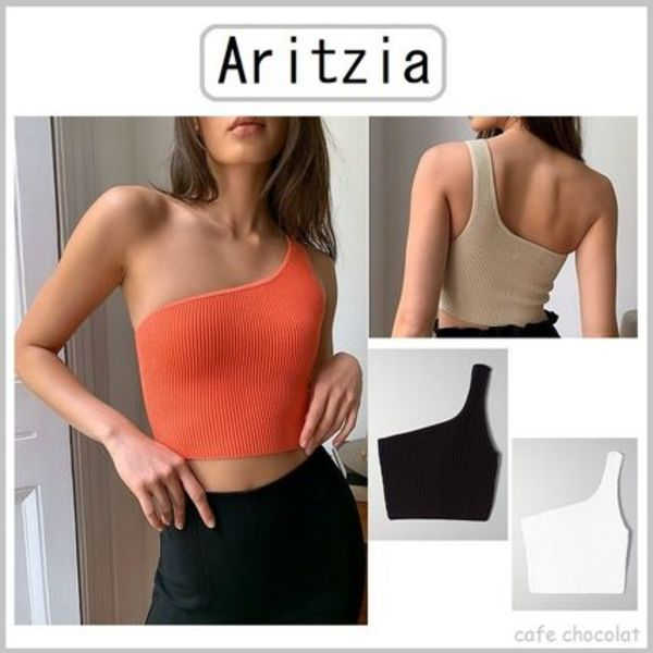 【Aritzia】Babaton Sculpt Knit One-Shoulder ワンショルダー