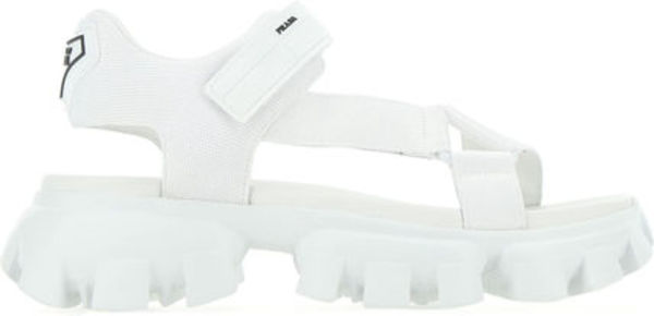 Prada▲WHITE FABRIC CLOUDBUST THUNDER SANDALS