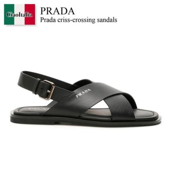 PRADA Criss-Crossing Sandals