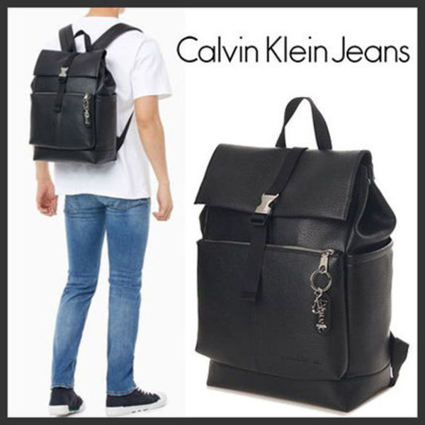 海外別注★Calvin Klein★TAGGED ROLL TOP BACKPACK★安全発送