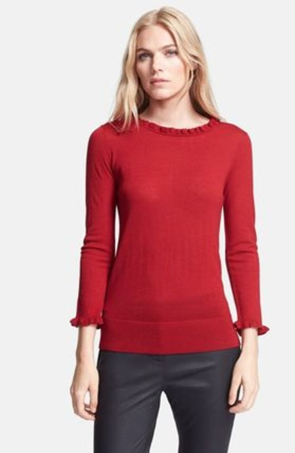 セール!kate spade new york Ruffle Trim Sweater