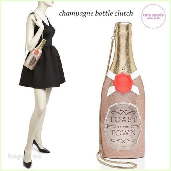 新作SALE キュート 2WAY *kate spade* champagne bottle clutch