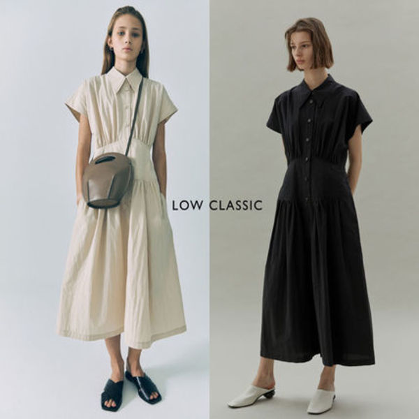 LOW CLASSIC ★20SS WAIST SHIRRING DRESS★2色★韓国ブランド★