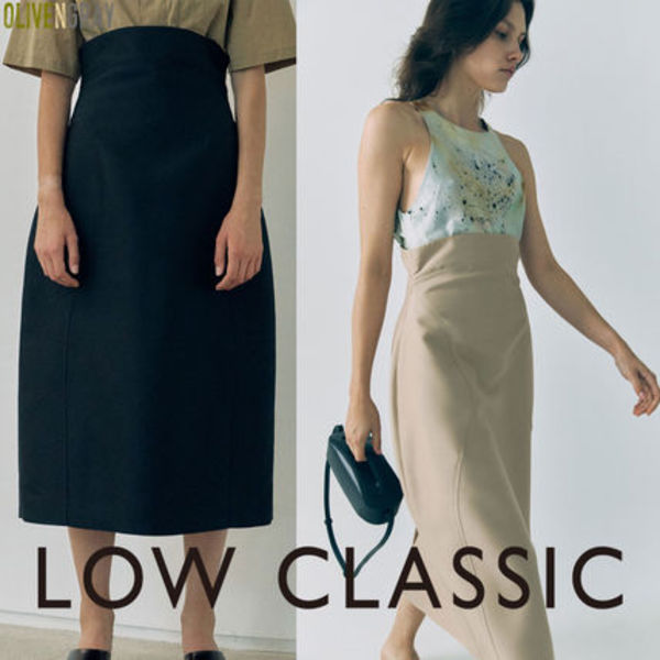 LOW CLASSIC★CURVE LINE VOLUME SKIRT★2色★韓国ブランド★