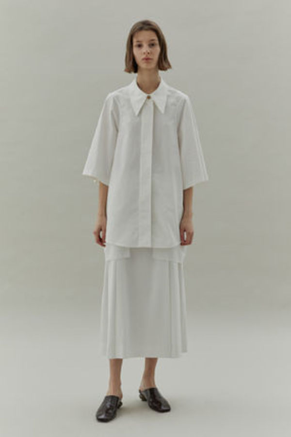 LOW CLASSIC ARMHOLE STITCH SHIRTS (WHITE) ★韓国ブランド★