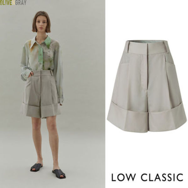 LOW CLASSIC★ 20SS HALF TURN UP PANTS ★2色★韓国ブランド★