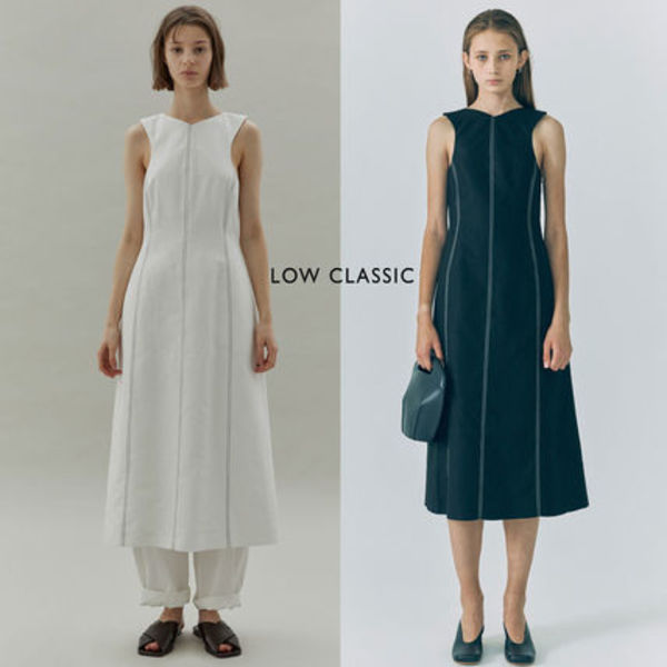 LOW CLASSIC ★20SS STITCH SLEEVELESS DRESS2色★韓国ブランド