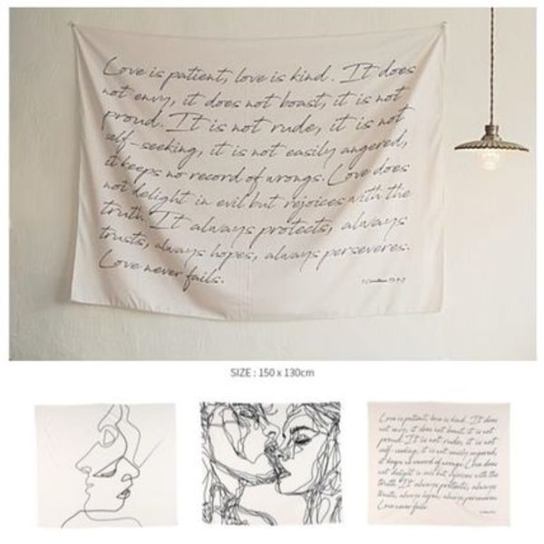 【carda】Fabric drawing poster interior accessory L SIZE