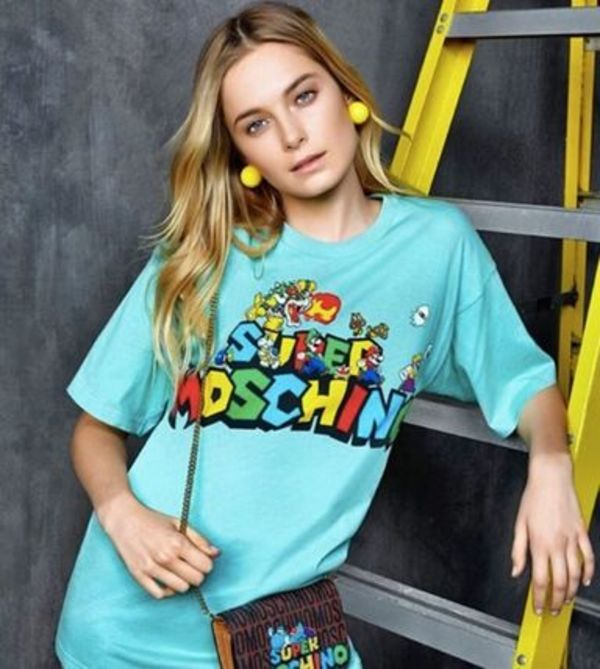 16SS★Moschino SUPER MOSCHINOT-シャツ GR 関税/送料込