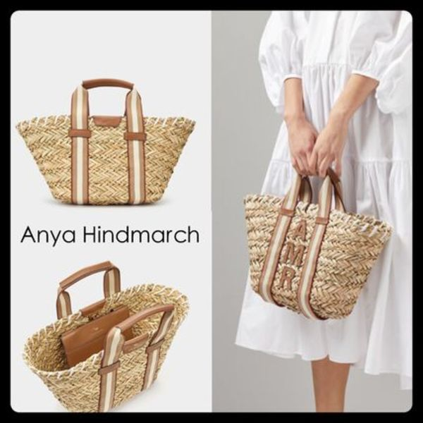 【Anya Hindmarch】Small Walton Basket かごバッグ バスケット