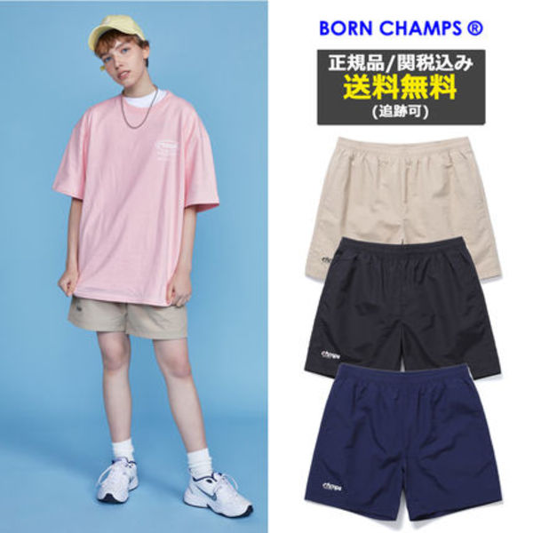 [BORNCHAMPS] CHMPS SMALL LOGO SHORT PANTS CETBMTP01 3COLOR