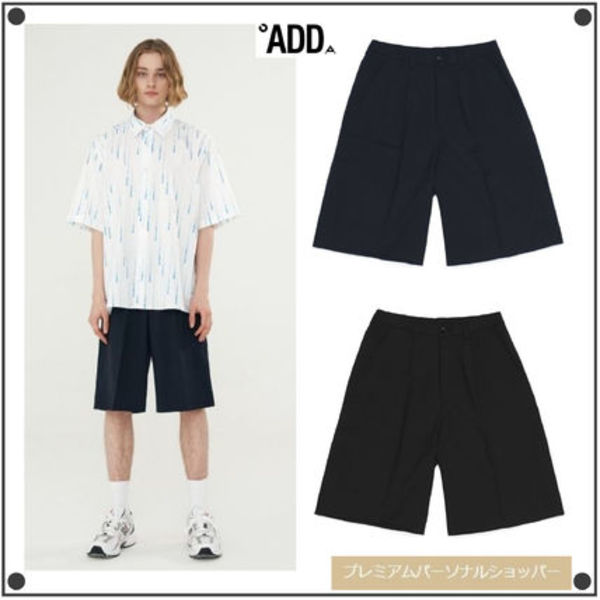 日本未入荷ADD SEOULのFOLDED CHIC WIDE HALF PANTS 全2色