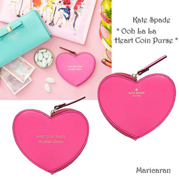 即発送【セール!】Kate Spade*OOH LA LA HEART COIN PURSE