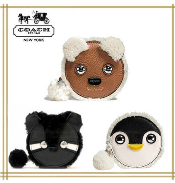 COACH ★PENGUIN RACCOON BEAR COIN PURSE 国内発送! 関税込!