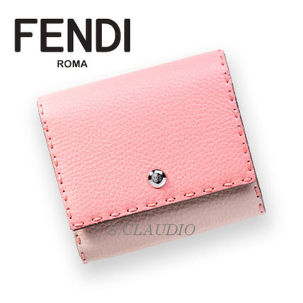 ☆FENDI☆【SALE】SELLERIA CUTEなPEACHカラー ミニウォレット
