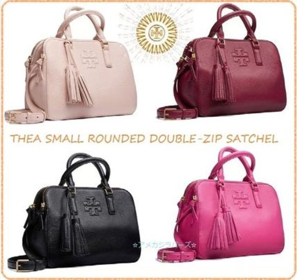 【期間限定セール】THEA SMALL ROUNDED DOUBLE-ZIP SATCHEL