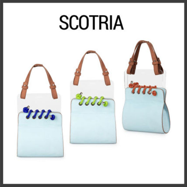 【Scotria】ウィンドウバッグ WINDOW BAG IN BLUE