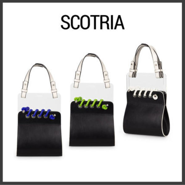 【Scotria】ウィンドウバッグWINDOW BAG IN BLACK