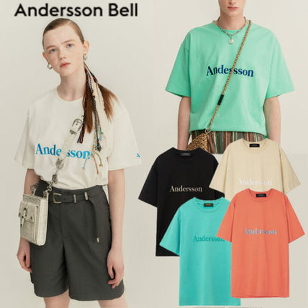 ★ANDERSSON BELL★UNISEX ANDERSSON SIGNATURE EMBROIDERY TEE