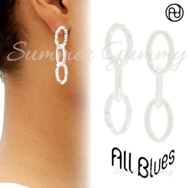 ALL BLUES 》Ellipse mismatched sterling-silver★ピアス