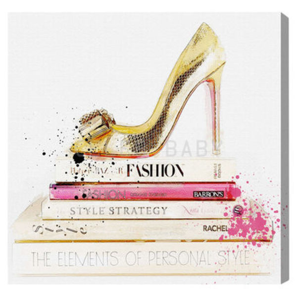 "限定セールOliver Gal ""Gold Shoe & Fashion Books""キャンバス"