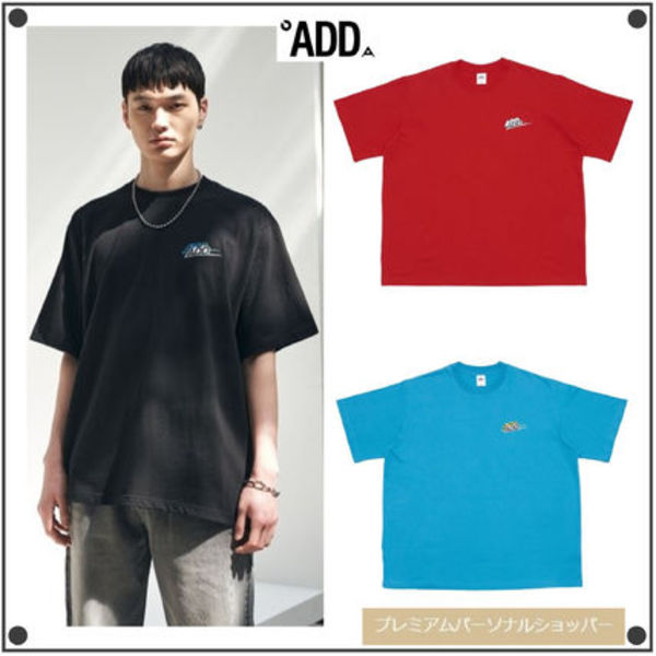 日本未入荷ADD SEOULのDOUBLE LOGO BACK SLIT TEE 全3色