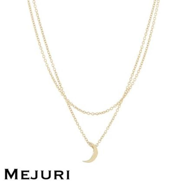 【Mejuri】Layered Moon Necklace ゴールド Gold  日本未発売