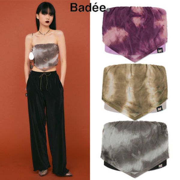 [BADEE] TIE-DYE LAYERED TUBE TOP 3COLOR 韓国ブランド 正規品