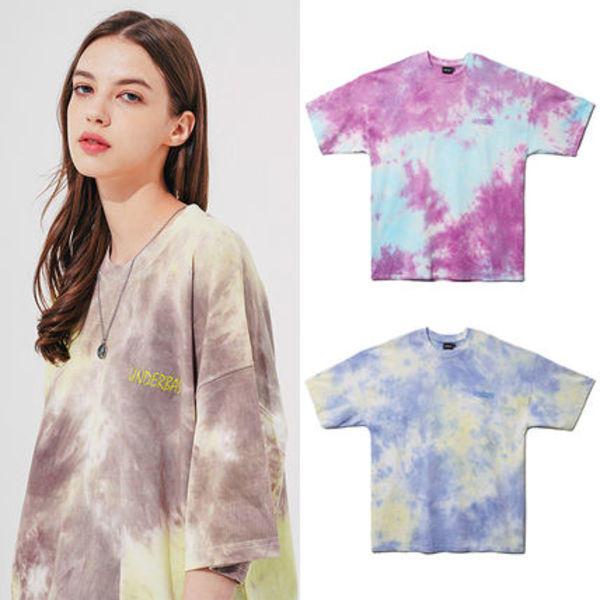 ★UNDERBASE★韓国 Overfit Tiedye Short Sleeved T Shirt 3色