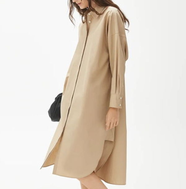 """ARKET"" Oversized Shirt Dress Beige"