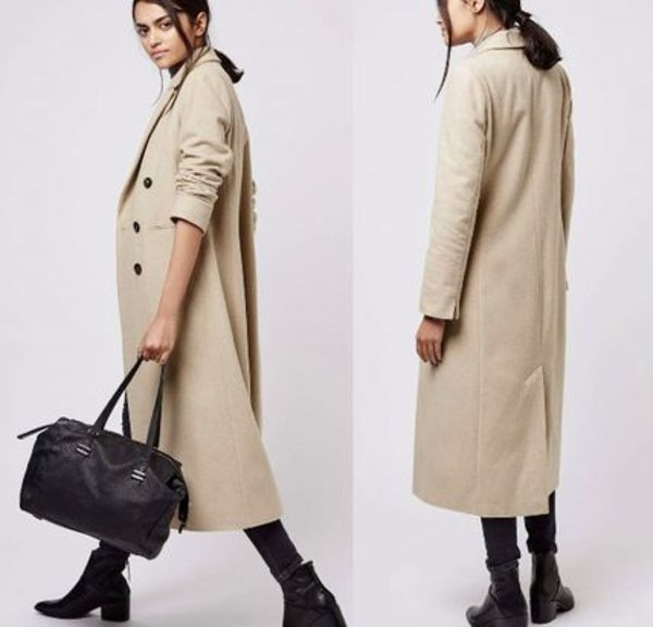 秋冬最新作★Longline Double-Breasted Wool Blend Coat