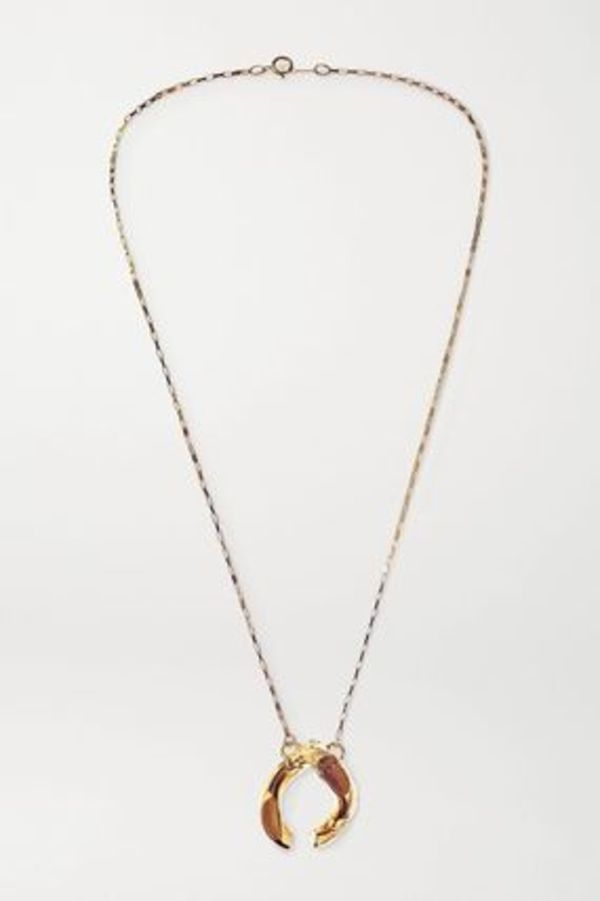 ★ALIGHIERI★ THE FLASHBACK GOLD-PLATED NECKLACE