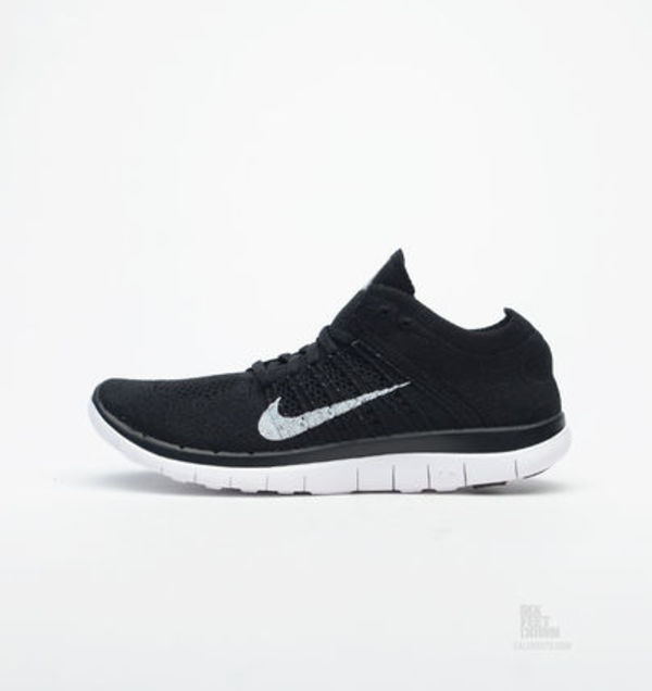 ナイキ Nike Wmns Free 4.0 Flyknit Black White Run Women Runn