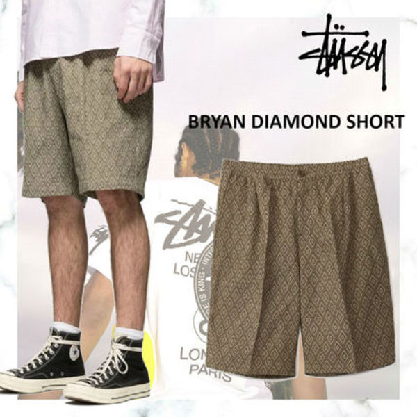 完売必須!!お早めに!STUSSY BRYAN DIAMOND SHORT OLIVE
