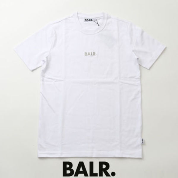 BALR.TシャツBLACK LABEL BASIC SHIRT プレートロゴ b10003-wh