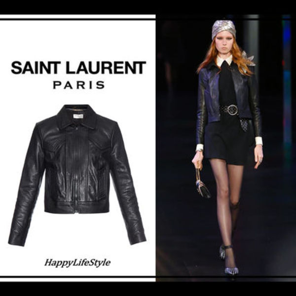 RUNWAY LOOK20◆Stitch detail ライダース◆Saint Laurent◆