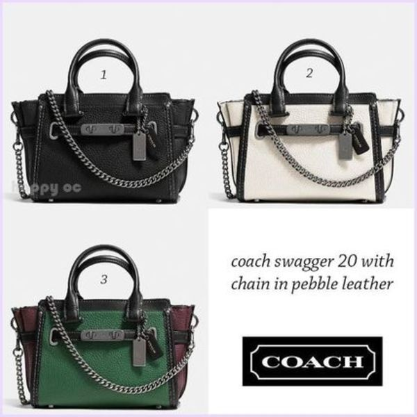 セール 人気2WAY 3色 *COACH* swagger 20 with chain