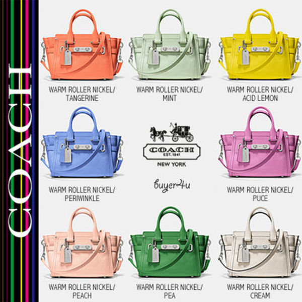 ★Coach★スワッガー★SWAGGER 20 CARRYALL IN PEBBLE LEATHER♪