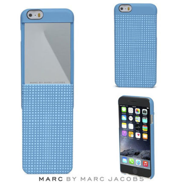 MARC BY MARC JACOBS☆iPhone6 ケース ブルー 鏡 ミラー付き♪