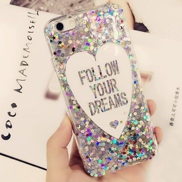 ★iPhone6/6s/6Plus/6sPlus★FOLLOW YOUR DREAM きらきらケース