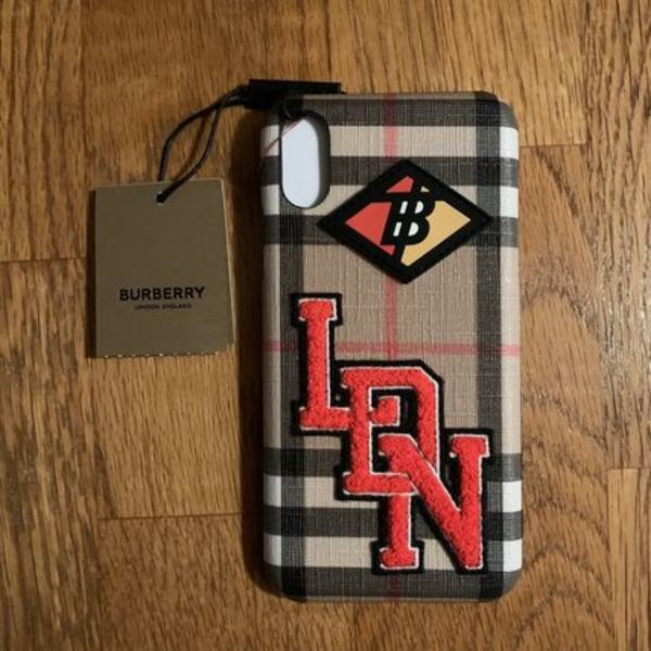 BURBERRY Logo Graphic Vintage Check iPhone X/XS ケース