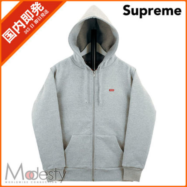 【日本国内発送】 SUPREME SMALL BOX THERMAL  SWEAT グレー S