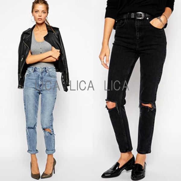 送料無料・国内発送ASOS  Farleigh High Waist Slim Mom Jeans