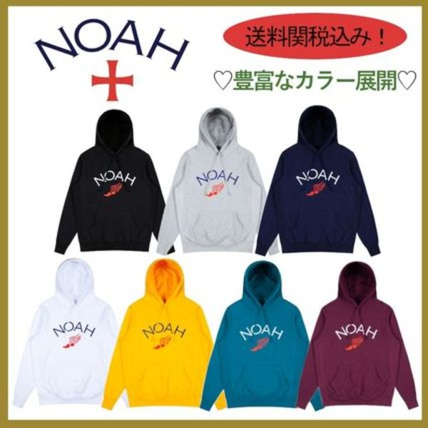 NYで人気急上昇【NOAH】 Winged Foot Embroidered Hoodie送関込