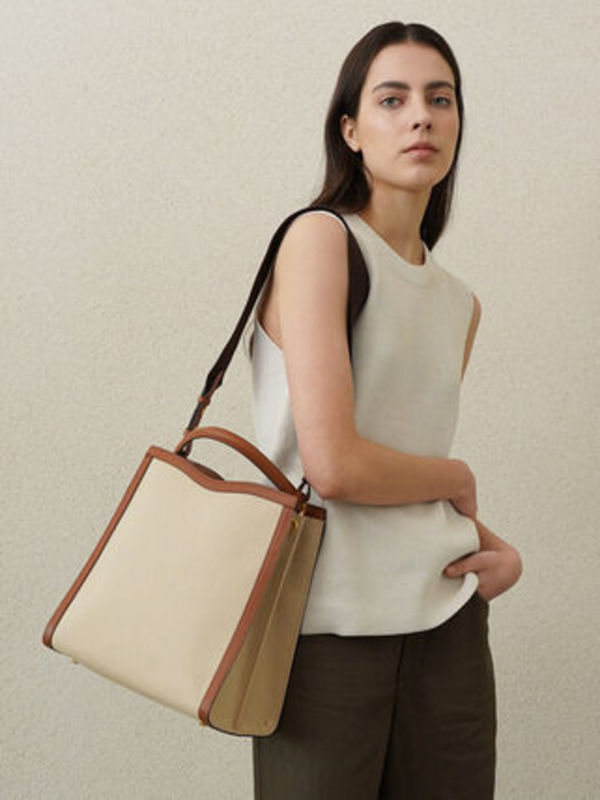 HERVE TRAPE CANVAS TOTE BAG_2COLORS
