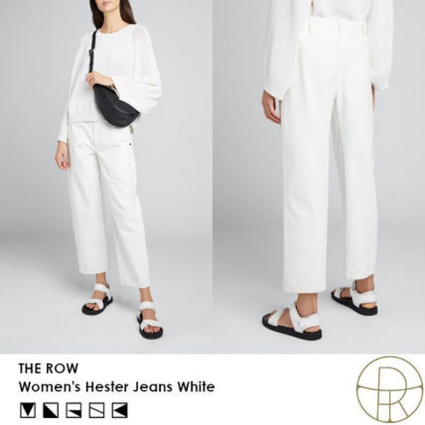 【SS20】THE ROW Hester ジーンズ ホワイト