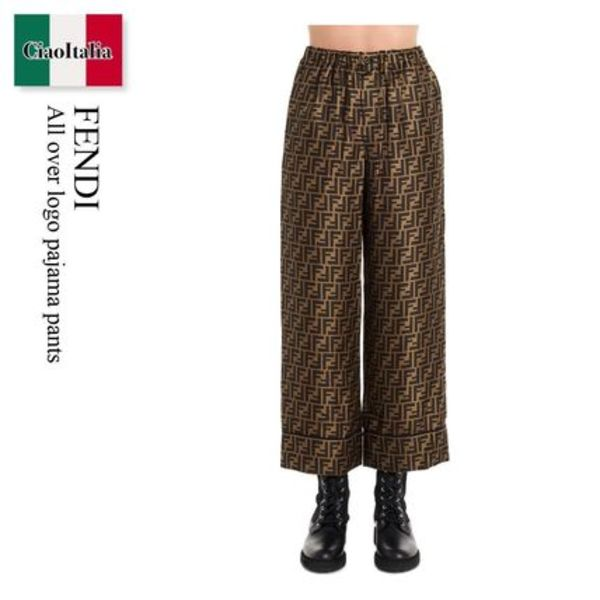 Fendi All over logo pajama pants