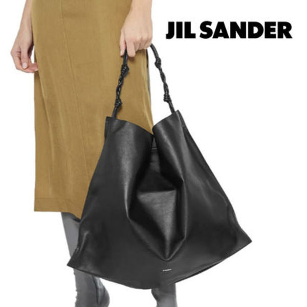 JIL SANDER☆【完売間近】KNOTTED TEXTURED-LEATHER TOTE トート
