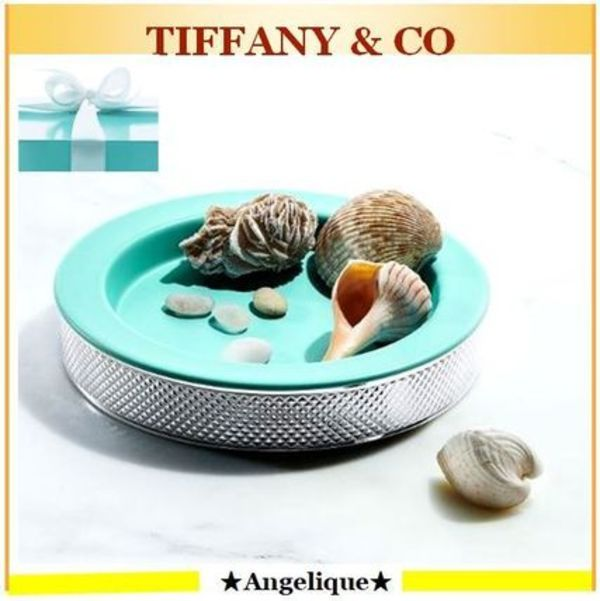 TIFFANY★お部屋をお洒落に Diamond Point Round Dish